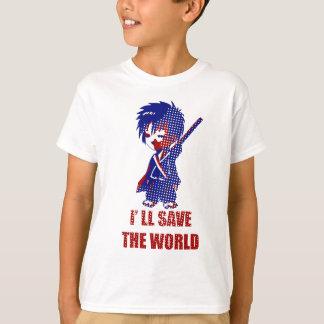 I'll Save The World Samurai Boy Tshirts