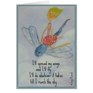 I'll spread my wings greeting card