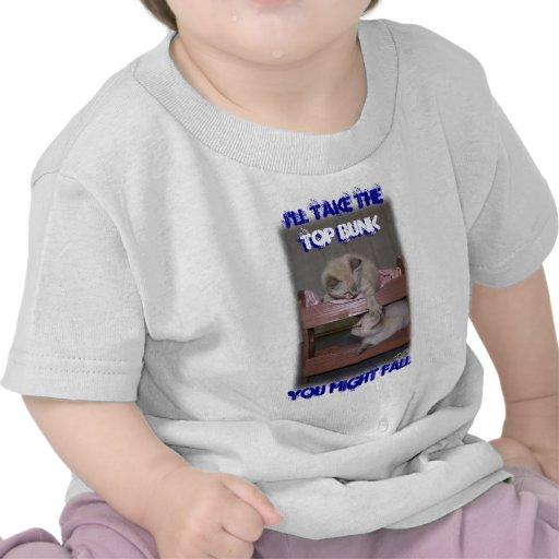 I'll Take the Top Bunk Lynx Point Siamese T Shirt