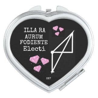 ILLA RA AURUM FODIENTE ELECTI Compact Heart Mirror Vanity Mirrors
