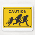 Illegal Aliens Crossing Highway Sign Mouse Pad