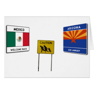 Illegal Border Crossing Sign Cards