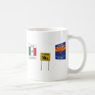 Illegal Border Crossing Sign Coffee Mug