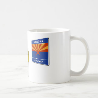 Illegal Border Crossing Sign Mugs