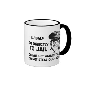 Illegal? Go Directly to Jail. Ringer Coffee Mug