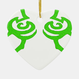 Illidan Rune Design Ceramic Heart Decoration