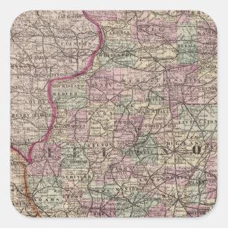 Illinois 10 square sticker
