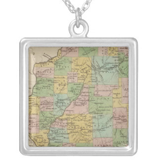Illinois 11 silver plated necklace
