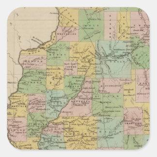 Illinois 11 square sticker