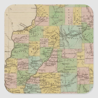 Illinois 11 square sticker