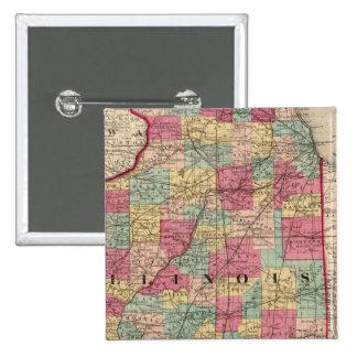 Illinois 12 15 cm square badge