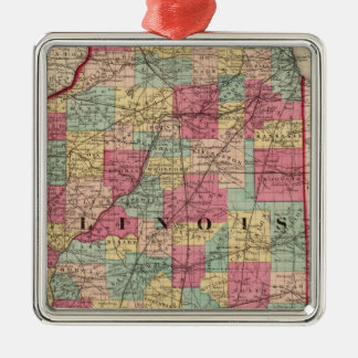 Illinois 12 christmas ornament