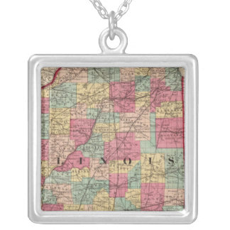 Illinois 12 silver plated necklace