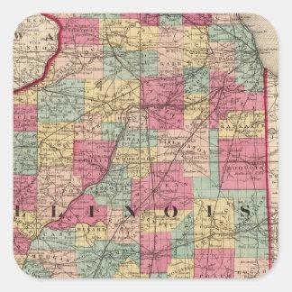 Illinois 12 square sticker