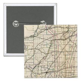 Illinois 13 15 cm square badge