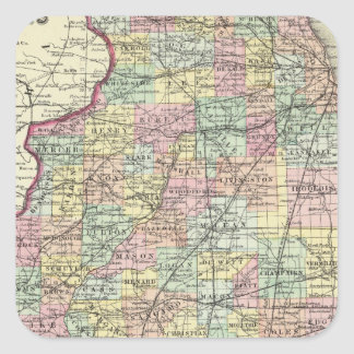 Illinois 13 square stickers