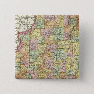 Illinois 15 Cm Square Badge