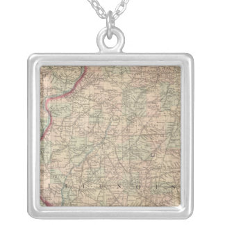 Illinois 2 silver plated necklace