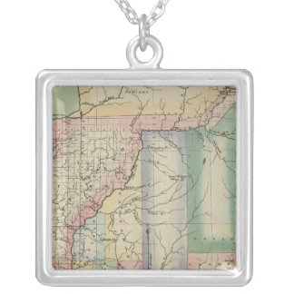 Illinois 3 silver plated necklace