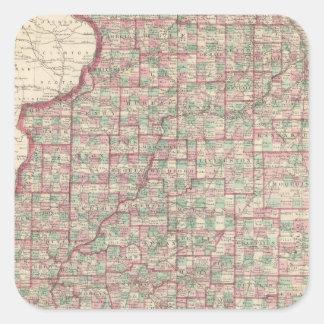 Illinois 3 square sticker