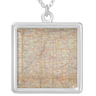 Illinois 5 silver plated necklace