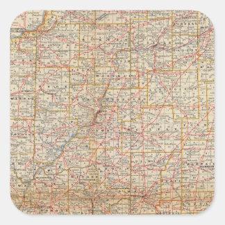 Illinois 5 square sticker