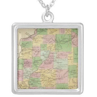 Illinois 6 silver plated necklace