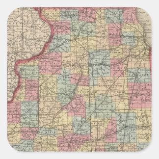 Illinois 7 square sticker