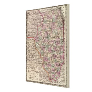 Illinois 8 canvas print
