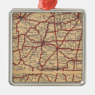 Illinois 8 christmas ornament
