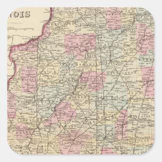 Illinois 8 square sticker