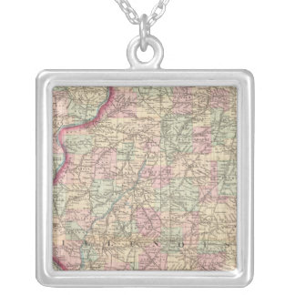 Illinois 9 silver plated necklace