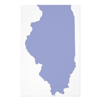 ILLINOIS a BLUE state Stationery Paper