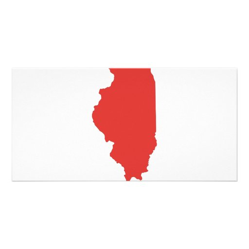 ILLINOIS - a RED State Personalized Photo Card