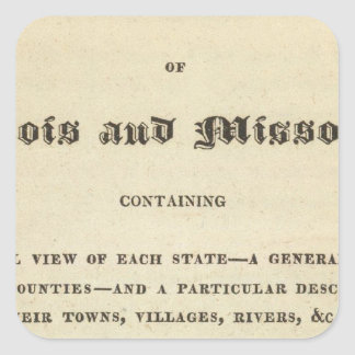 Illinois and Missouri 2 Square Sticker