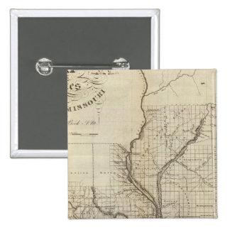 Illinois and Missouri 3 15 Cm Square Badge