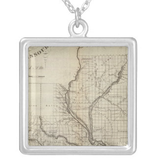 Illinois and Missouri 3 Silver Plated Necklace