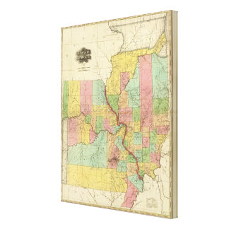 Illinois and Missouri 4 Canvas Print