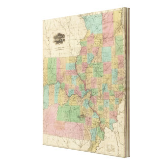 Illinois and Missouri Canvas Print