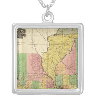 Illinois and Missouri Silver Plated Necklace