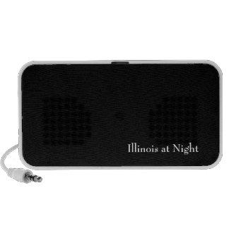 Illinois at Night Portable Speaker