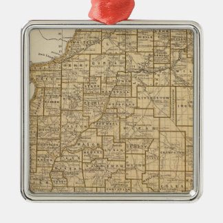Illinois Atlas Map Christmas Ornament