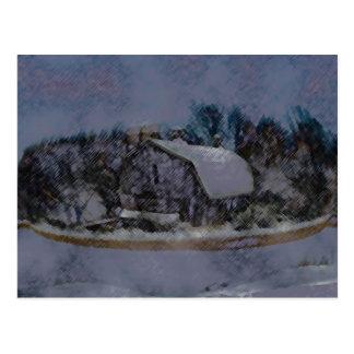 Illinois Barn Rock Wall Post Cards