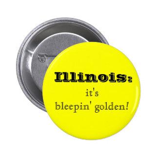 Illinois Bleepin' Golden Button