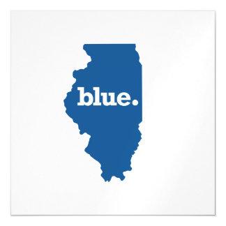 ILLINOIS BLUE STATE MAGNETIC INVITATIONS