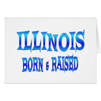 Illinois Born & Raised Card