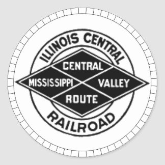 Illinois Central Railroad Vintage Logo Stickers