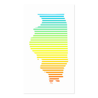 illinois chill fade pack of standard business cards