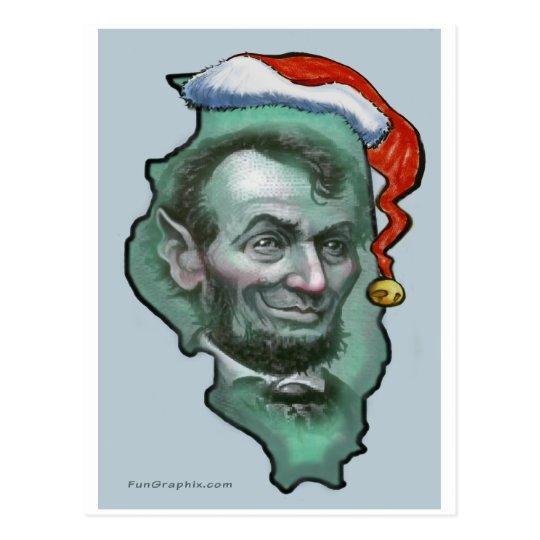 Illinois Christmas Postcard