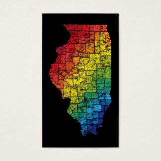 illinois color counties business card